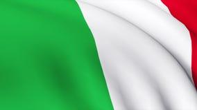 1 3d detailed italienare för flagga framför högt royaltyfri illustrationer