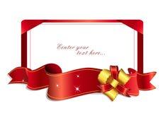 1 4条弓最大红色丝带 免版税库存照片