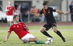 匈牙利与荷兰(1 :4) 库存照片