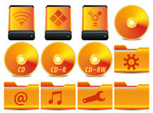(1) 4 ikon operaci setu system Obraz Stock