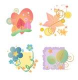 (1) 4 kwiatu pakuje sezonowego Fotografia Royalty Free