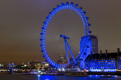 伦敦眼在晚上1 免版税库存图片