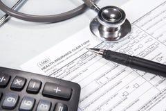 医疗保健概念1的费用 库存照片