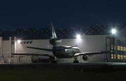 1个喷气机晚上 库存图片