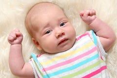 1 5个女婴月 免版税库存照片