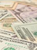 1, 5, 10 und 20 US-Bargeld Stockbilder
