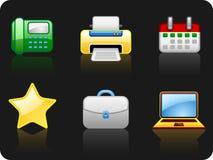 (1) 5 ikony biura set Zdjęcia Stock
