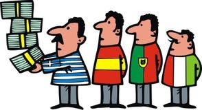 1欧元当危机标志 免版税库存图片