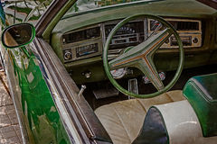 Старая открытка с ареной водителя винтажного классического автомобиля 1 Стоковые Фотографии RF