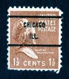1 5c马莎邮票美国葡萄酒华盛顿 免版税库存图片