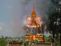 1 7 cremation ακολουθία Ταϊλάνδη Στοκ Εικόνα