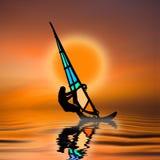 1个芳香树脂风帆冲浪者 库存照片