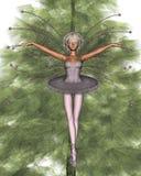 1个圣诞节神仙的桃红色结构树 库存照片