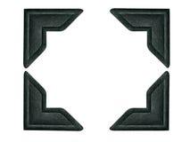 1 черный угол загоняет каждое включенное фото в угол путя Стоковые Изображения RF