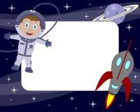 1张宇航员框架孩子照片 库存照片