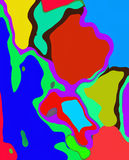 (1) abstrakcjonistyczny kolorowy Obrazy Stock