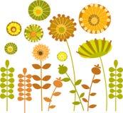 1 abstrakt färgrika blommaträdgård Royaltyfri Fotografi