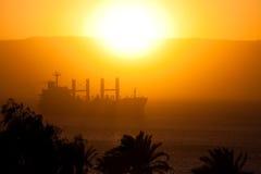 (1) ładunku czerwonego morza statek Zdjęcie Stock