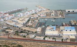 1 agadir port Arkivfoto