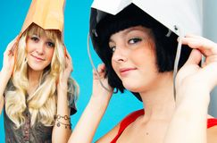 1 aholics shoppar tonårs- Royaltyfria Bilder