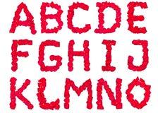 1 alfabetpetal liter Arkivfoton