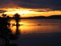 1 amazon soluppgång Fotografering för Bildbyråer