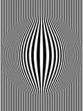 1 art black bulging op stripes vertical white διανυσματική απεικόνιση
