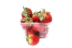 1 ask utanför jordgubbar Arkivbild