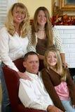 1 attraktiva blonda familj Arkivbilder