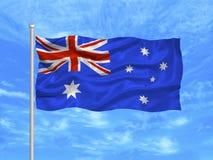 1 australiensiska flagga Royaltyfri Bild