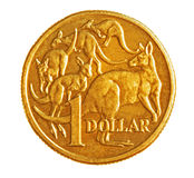 1 australiensiska mynt Fotografering för Bildbyråer