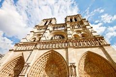 (1) błękitny katedralny paniusi notre niebo Fotografia Royalty Free