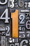 1 backgoundnummer Arkivbild