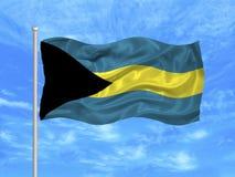 1 bahamas flagga Arkivbild