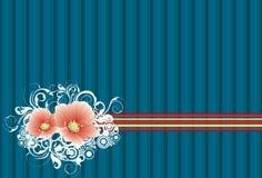1 bakgrundsblomma Royaltyfria Bilder