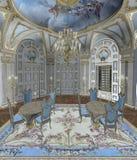 (1) barokowy pokój royalty ilustracja