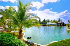 (1) basenu kurortu dopłynięcie Obrazy Royalty Free