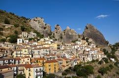 1 basilicata castelmezzanoland Arkivfoto