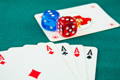 (1) bawić się kart Zdjęcie Royalty Free