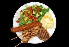 1 bbq μεσημεριανό γεύμα Στοκ φωτογραφία με δικαίωμα ελεύθερης χρήσης