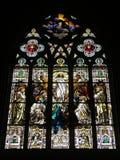 1 befläckte kyrkliga exponeringsglas Arkivbild