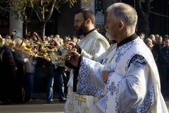 1 begravnings- patriarkpavleserb Royaltyfria Bilder