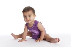 1 behandla som ett barn balettflickan ingen pos.sitting Arkivfoton