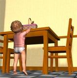 1 behandla som ett barn easter Arkivfoto
