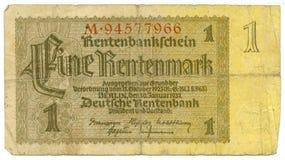 1 billgermany rentenmark Fotografering för Bildbyråer