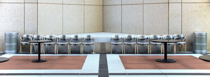 (1) biurowy patio Zdjęcia Stock