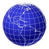 1 blåa jordklotvärld Arkivbilder