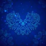1. Blaues Valentinsgrußinneres stock abbildung