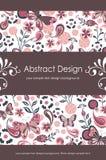1 blom- abstrakt bakgrund 5 vektor illustrationer