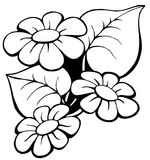 1 blom- bevekelsegrund Arkivfoto